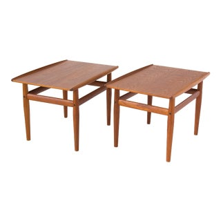 Grete Jalk for Glostrup Teak Side Tables - A Pair