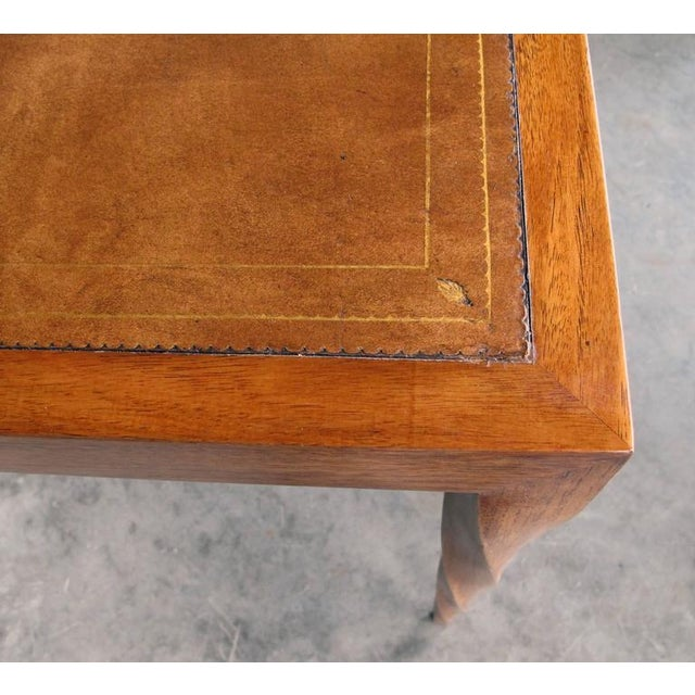 Rare American 1940s Square Game Table with Inset Leather Top by Johan Tapp - Image 2 of 4