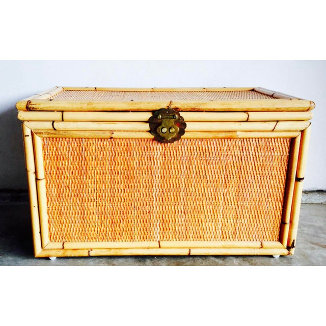 Vintage Bamboo Trunk Blanket/Toy Chest - Image 2 of 8