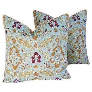 Designer Le Gracieux Kirachi Linen Pillows - a Pair