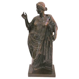 Grand Tour Bronze, Roman Woman, France, 19th Century by Susse Freres