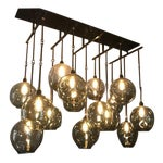 Image of Hand Blown Glass Multi Globe Light Fixture