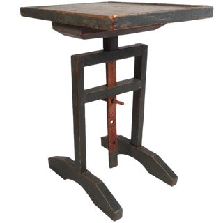 18th Century New England Adjustable Height Table