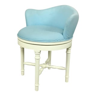 Pottery Barn Sky Blue Vanity Stool