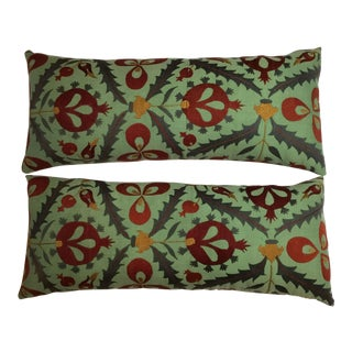 Silk Embroidery Suzani Pillows - a Pair