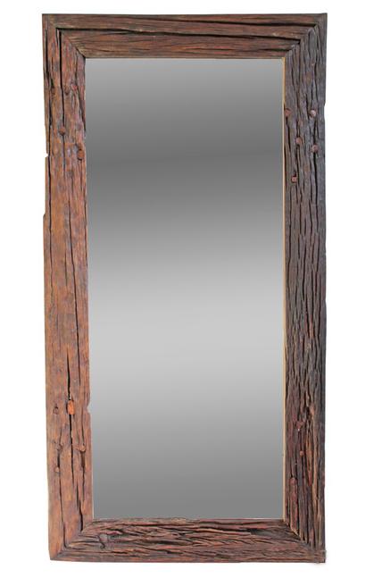 reclaimed javanese railroad mirror chairish