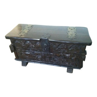 Spanish Hand Carved Trunk