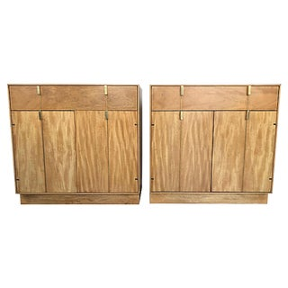 Mid-Century Hickory Nightstands - A Pair