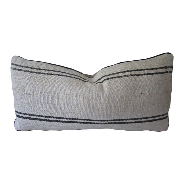 Hand Loomed Stripe Pillow - Image 1 of 4