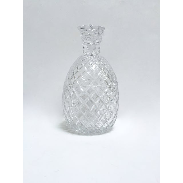 Vintage Large Clear Glass Pineapple With Lid - Image 5 of 9