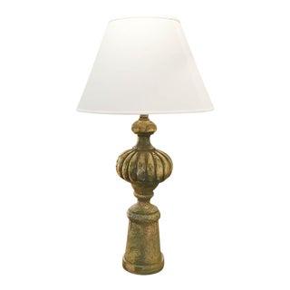 Large Mid Century Gilt Lamp