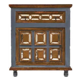 Italian Antique Mirrored Venetian Cabinet or Nightstand