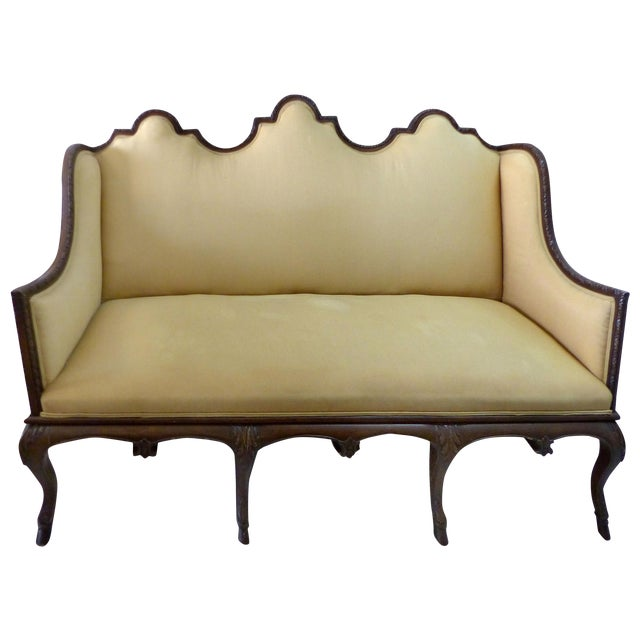 Image of Carved Frame High Back Sofa