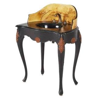 Italian Style Custom Hand-Painted Pedestal Sink