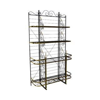 Quality French Style Iron & Brass Bakers Rack