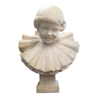 Late 19th Century L. Alliot Marble Child Bust