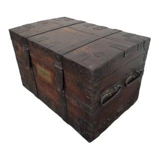 19th Century Iron Bound Cargo Trunk