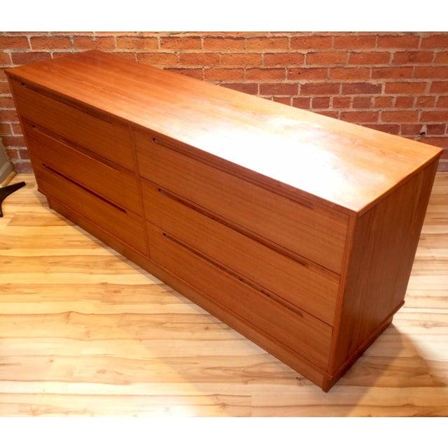 Danish Modern Teak Six-Drawer Dresser - Image 4 of 7