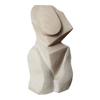 """Artemis"" Modern Portuguese Pink Marble Sculpture by Dolores Singer, 1990"