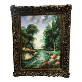 Large Impressionist Style Landscape Oil Painting