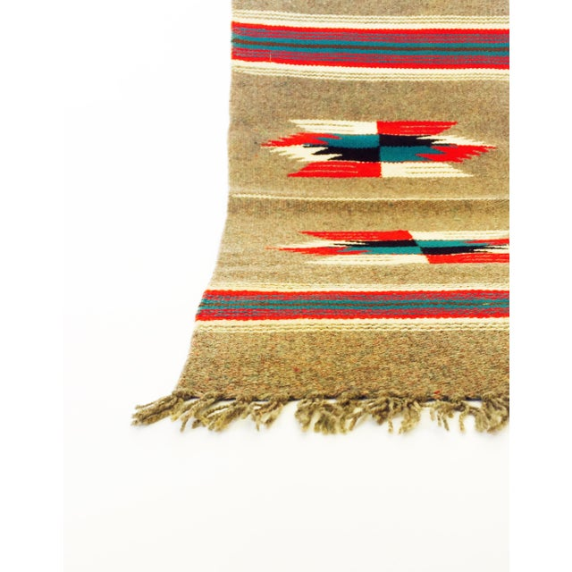 Vintage Gray Mexican Rug - 1′2″ × 2′6″ - Image 4 of 5