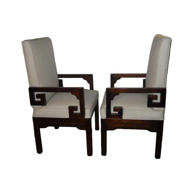 Asian modern dining chairs a pair chairish for Modern dining chairs ireland