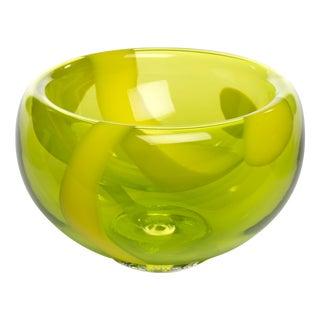 Hand Blown Bubble Glass Bowl