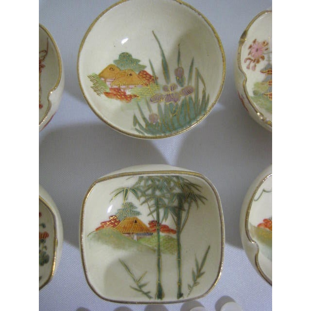 1900s Japanese Satsuma Open Salt Cellars/Dips - Image 4 of 10