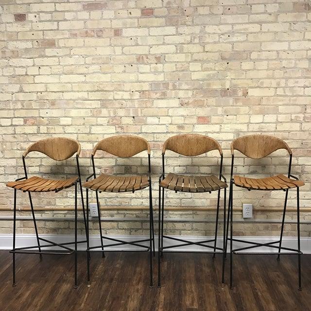 Arthur Umanoff Mid-Century Modern Bar Stools- Set of 4 - Image 2 of 7
