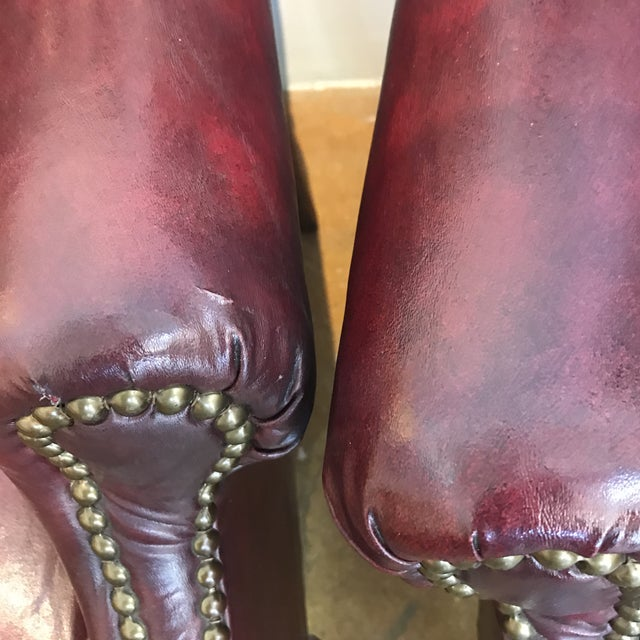 Chesterfield Oxblood Wingback Chairs - A Pair - Image 11 of 11
