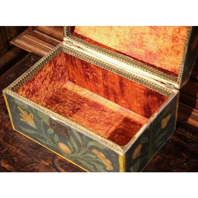 18th Century French Hand Painted Floral Wedding Box - Image 4 of 9