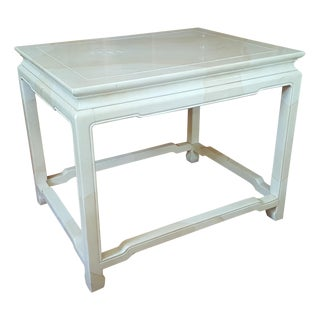 Henredon Asian Inspired Faux Finish End Table