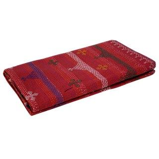 Aari Red Tribal Coverlet