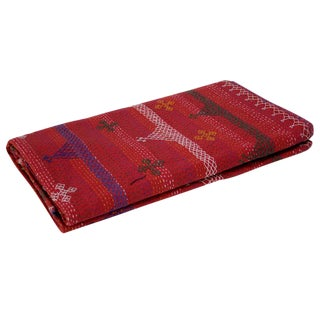 Aari Red Tribal Coverlet