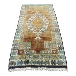 Beige Decorative Turkish Carpet - 3′3″ × 7′4″