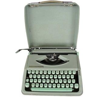 Vintage Hermes Baby Teal Typewriter