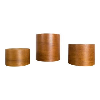 Japanese Modern Teak Nesting Containers
