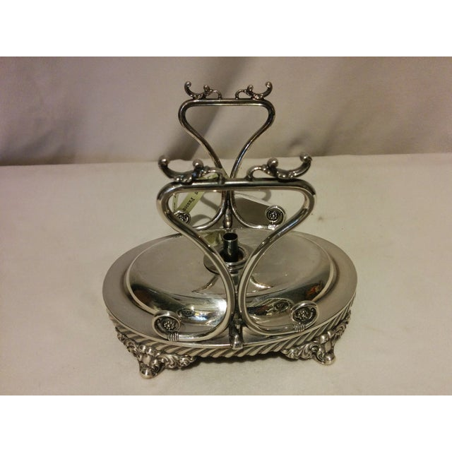 American Silverplate Teapot w/ Stand & Burner - Image 3 of 11