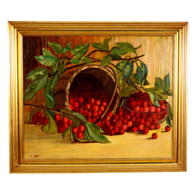 "Donato ""Cherries"" 1950 Painting - Image 1 of 7"