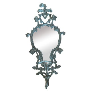 Vintage-Like Wall Mirror With Hat Hook