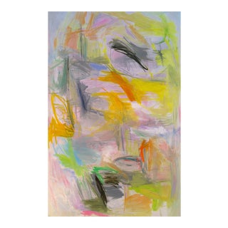 """Large Lyrical Abstract Oil Painting by Trixie Pitts """"New Day"""""""