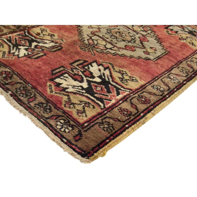 Vintage Turkish Oushak Rug - 1′8″ × 2′7″ - Image 2 of 2