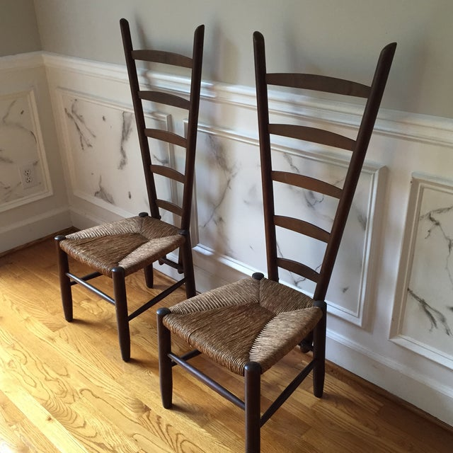 Rare Italian Vintner Chairs - A Pair - Image 6 of 6