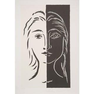 """Pablo Picasso """"Portrait Deux Parties"""" Lithograph"""