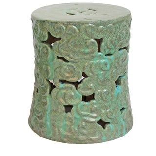 Ceramic Cloud Garden Stool