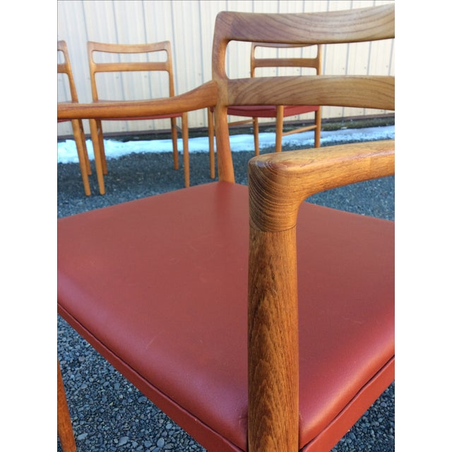 Danish Modern Teak Dining Chairs - Set of 6 - Image 3 of 10