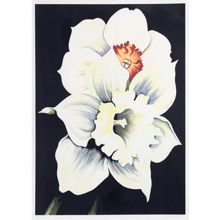 "1978 ""Two White Flowers"" Print by Lowell Blair Nesbitt"