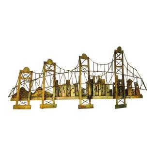 Vintage Mid Century Modern Metal Bridge Sculpture