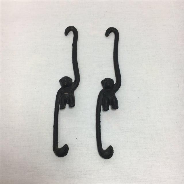 Cast Iron Monkey Hooks - A Pair - Image 2 of 5