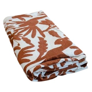 Mexican Otomi Brown Bedcover/Tablecloth